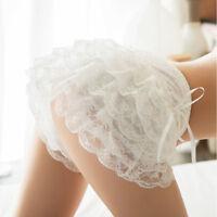 Lady girl sexy froufrous dentelle volant shorts knicker culotte sous-vêtemen.FR