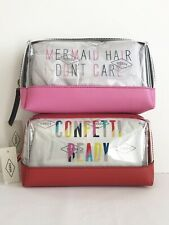 FOSSIL Zip Clutch Cosmetic Pink/Clear or Red/Clear Bag