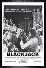 BLACKJACK * CineMasterpieces ORIGINAL MOVIE POSTER BLAXPLOITATION 1978