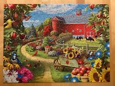 "500 Piece Jigsaw Puzzle ""Corner of your Life"" Farm Cows Flowers Apple Tree Birds"