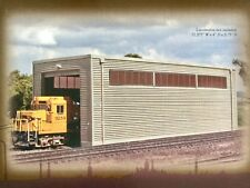 BACHMANN 1/87 HO SCALE SINGLE STALL ENGINE SHED ASSEMBLED BUILDING 35115 F/S