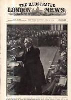 1914 London News February 28 Winston Churchill flight; Curtiss flying boat;