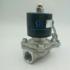 "1-1/2"" BSPP 110V AC Stainless Steel 304 Electric Solenoid Valve Normally Closed"