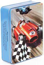 Racing car storage tin/lunch box - Ladybird book artwork