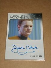 Star Trek Quotable Voyager Josh Clark as Lt. Joe Carey autograph MINT