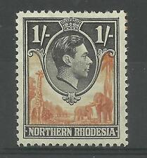 N.Rhodesia, 1938 Sg 40, 1/- Yellow-Brown & Black, Lightly Mounted Mint [690]