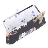 Women Retro Canvas Clutch Hasp Key Change Wallet Purse Coin Bag Handbag DD
