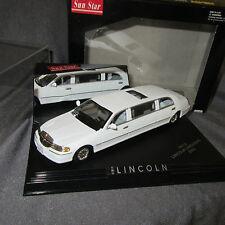 984D Sun Star 10112 Lincoln Limousine 2000 Blanc 1:43