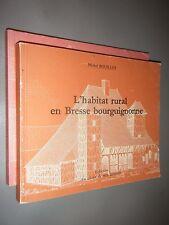 2V Set of Books Michel Bouillot L'habitat rural Tournus & Bresse bourguignonne