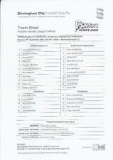 Reserves Teams A-B Birmingham City Football Programmes