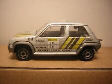 1/51  majorette RENAULT 5 GT TURBO 1985   Supercinq  n°205