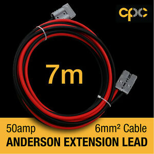 7m 50A AMP for ANDERSON PLUG Extension cable Battery 4x4 4WD CARAVAN SOLAR 12V