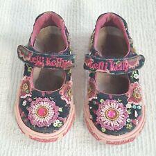 Lelli Kelly Girls Toddler Mary Jane Pink Blue Floral Beads Shoe Kids 21 5.5T (K)
