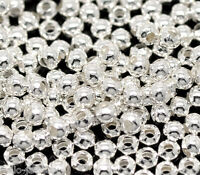 1000 Neu Versilbert Rund Glatt Spacer Perlen Beads 3mm