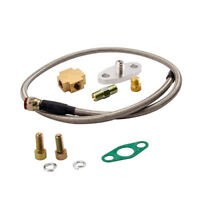 T3 T4 T70 T66 TO4E Oil Cold Turbo Universal Oil Line Oil Feed Line Kit ¢14