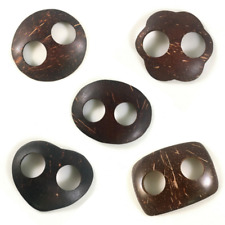 Sarong Buckles Ties or Clip | Coconut Shell | 5 Shapes | Handmade