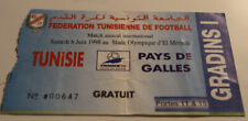 Ticket for collectors Tunisia - Wales 1998 in Tunis