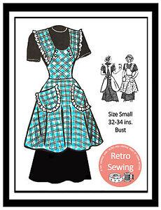 1950s Apron Vintage Sewing Pattern