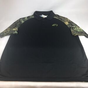 Fishouflage Performance Polo Shirt Polyester Carp Fishing Camo XL
