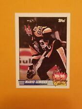 1990-91 Topps Hockey Team Scoring Leaders #17 Mario Lemieux