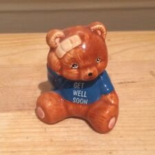 Kitsch Russ Ceramic Get Well Soon Teddy Bear Figurine 80s 90s