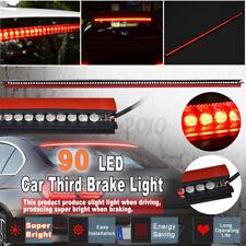 Universal DC 12V Red 90 LED Car Rear Windhield Third High Break Tail Light Lamp