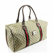 Large Designer Inspired Holdall Gym Luggage Duffel Cabin Travel Case Bag Coffee