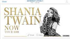 4X Shania Twain tickets
