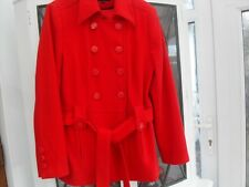 M&S LIMITED COLLECTION  RED WOOL  DOUBLE BREASTED JACKET SIZE 16  Brand Ne