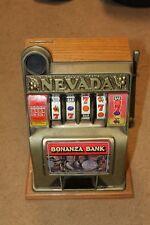 Vintage Nevada Bonanza Novelty Slot Machine Piggy Bank