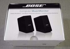 BOSE Computer MusicMonitor - NEW, sealed, Music Monitor speakers - Black