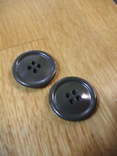 M65 US Fishtail Parka  2 x Cuff Adjuster Buttons / Large Cuff Buttons + Thread .