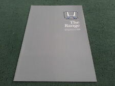 1989 HONDA RANGE UK BROCHURE Civic CRX Accord Aerodeck Integra Prelude Legend