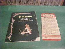 1947 RARE FIRESTONE ELECTRIC REFRIGERATOR INSTRUCTIONS & RECIPES BOOK #5-A-14