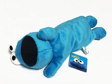 Cookie Monster Blue Plush Pencil Bag Pouch Case NWT Sesame Street / Full Body