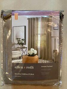 Allen + Roth Logan Camel Grommet Top Panel 1085003 52 in x 84 in New