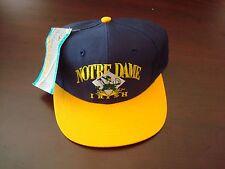 NOTRE DAME FIGHTING IRISH SMALL-MED  SCRIPT NEW VINTAGE 90'S HAT CAP  SNAPBACK