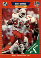 REFRIGERATOR MAGNET of 1989 Pro Set Barry Sanders Rookie Card Detroit Lions