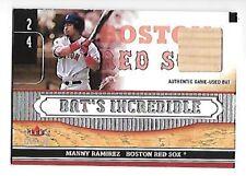 MANNY RAMIREZ 2002 FLEER GENUINE BAT'S INCREDIBLE GAME USED BAT #5 RED SOX
