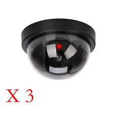3Pc dummy dome caméra de sécurité cctv fausse ir led rouge clignotante lumière intérieure