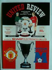 Menta 1990/91 Manchester United v Montpellier ECWC Q/F, 1st pierna con Token
