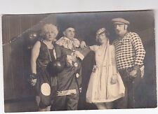 1930 Photo Vintage VICTORIAN Postcard New Year Party Transvestite Flapper