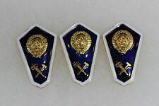 Post WW2 Soviet Russian Military Engineer School Screw Back Badge Lot of 3 F231
