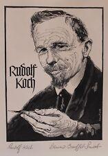 RUDOLF KOCH ENGRAVED BY BERNARD BRUSSEL-SMITH