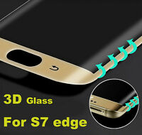 CLEAR SAMSUNG GALAXY S7 EDGE FULL CURVED 3D TEMPERED GLASS LCD SCREEN PROTECTOR