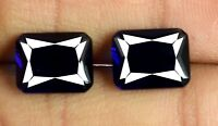 Blue Sapphire 4.80 Ct Gemstone Natural Emerald Cut Matching Pair AGSL Certified