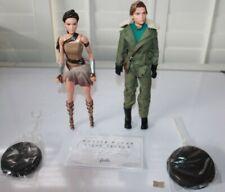 Paradise Island Giftset Barbie Wonder Woman & Steve Trevor No Box New
