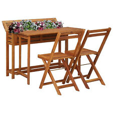 Middlewich 2 Seater Bistro Set Garden Furniture Outdoor Chair Coffee Table Brown