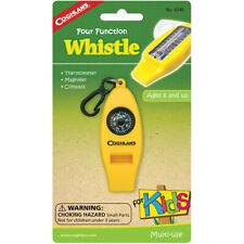 Coghlan's Cuatro Función Whistle For Kids Brújula Termómetro campamento, Lupa,