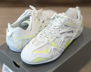 """$750 Mens Balenciaga """"Drive"""" Low-Top Sneakers White/Fluorescent Yellow 43 US 10"""